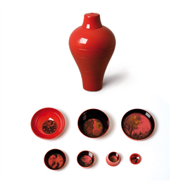 Ibride Vaso Ming China Red