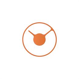 Stelton Orologio Parete Piccolo 22 Arancione